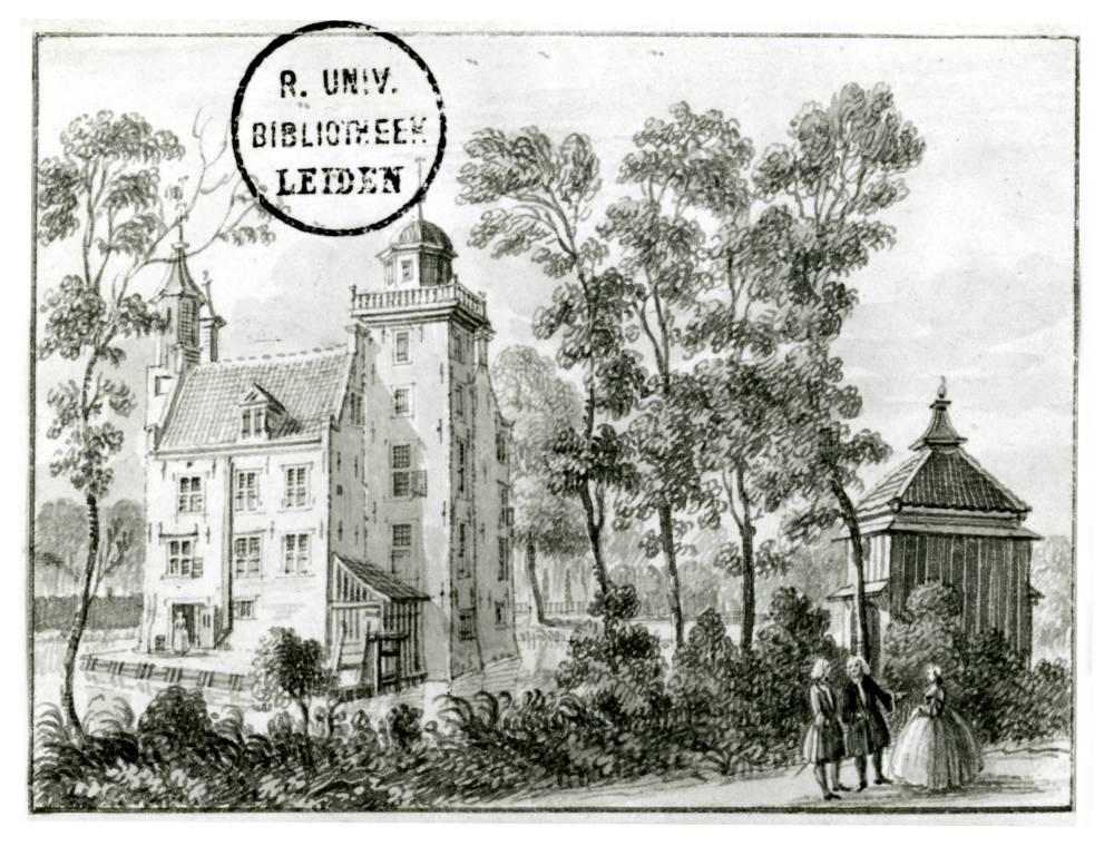 Huis Den Eyck in Vleuten. Tekening Jan de Beijer, 1744
